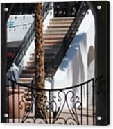 View Of Courtyard Through Adobe Doorway Photograph By Colleen Acrylic Print