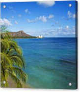 View Of Diamond Head Acrylic Print