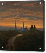 View Of Dresden At Sunset  Acrylic Print