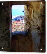 View Of Dubrovnik  Acrylic Print