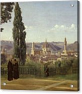 View Of Florence From The Boboli Gardens Acrylic Print