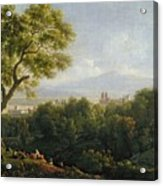 View Of Frascati Acrylic Print