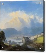 View Of Gmunden On Traunsee Acrylic Print