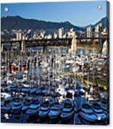 View Of Grandville Island Vancouver Canada Acrylic Print