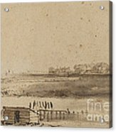 View Of Houtewael Near The Sint Anthoniespoort [recto] Acrylic Print