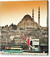 View Of Istanbul Acrylic Print by (C) Thanachai Wachiraworakam