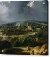 View Of Jerusalem From The Valley Of Jehoshaphat Acrylic Print