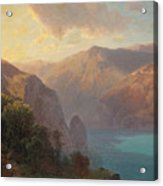 View Of Lac De Lucerne Seen From The Seelisberg, Switzerland Acrylic Print