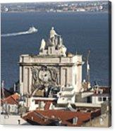 View Of Lisbon Harbor Acrylic Print