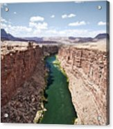 View Of Marble Canyon From The Navajo Bridge Acrylic Print
