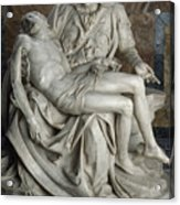 View Of Michelangelos Famous Sculpture Acrylic Print by James L. Stanfield
