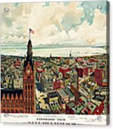 View Of Milwaukee 1898 Acrylic Print