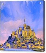 View Of Mont Saint Michel Acrylic Print