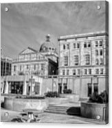 View Of Montgomery County Courthouse From The Southside In Black Acrylic Print