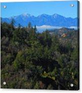 View Of Mount Baldy From The San Bernardino Mountains Acrylic Print