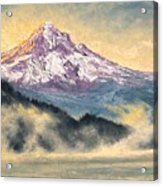 View Of Mt Hood Acrylic Print