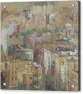 View Of New York City Acrylic Print