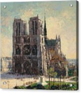 View Of Notre Acrylic Print