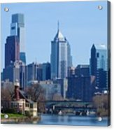 View Of Phliadelphia From West River Drive. Acrylic Print