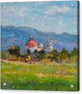 View Of Pisa From Countryside Acrylic Print