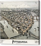 View Of Pittsburgh, 1902 Acrylic Print