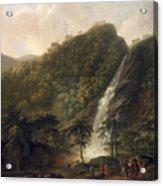 View Of Powerscourt Waterfall Acrylic Print