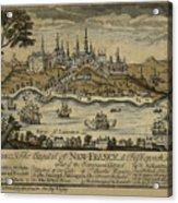 View Of Quebec City 1759 Acrylic Print
