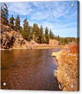 View Of River Around The Bend Acrylic Print
