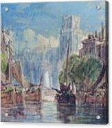 View Of Rotterdam Acrylic Print