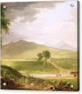 View Of Rutland - Vermont Acrylic Print by Asher Brown Durand