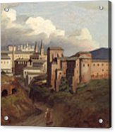 View Of Saint John Lateran Rome Acrylic Print by Joseph Desire Court
