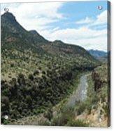 View Of Salt River Canyon Acrylic Print