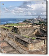 View Of San Juan From The Top Of Fort San Cristoba Acrylic Print