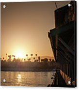 View Of Setting Sun Over Santa Barbara, Ca Acrylic Print
