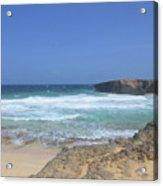 View Of Small Aruba Rock Formation On Boca Keto Acrylic Print