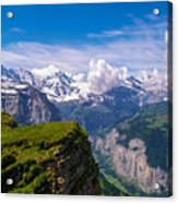 View Of The Swiss Alps Acrylic Print