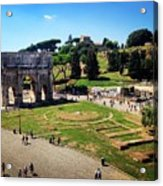 View Of The Arch Of Constantine From The Colosseum Acrylic Print