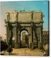 View Of The Arch Of Constantine With The Colosseum Acrylic Print