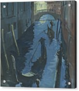 View Of The Bridge Of Sighs At Night. Acrylic Print