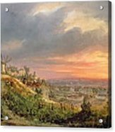 View Of The Butte Montmartre Acrylic Print by Louis Jacques Mande Daguerre