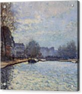 View Of The Canal Saint-martin Paris Acrylic Print