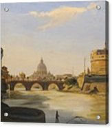 View Of The Castel Sant'angelo Acrylic Print