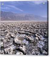 View Of The Devil's Golf Course Death Valley California Acrylic Print by George Oze