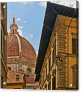 View Of The Duomo Acrylic Print