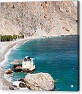 View Of The Glikanera Beach, Hora Acrylic Print