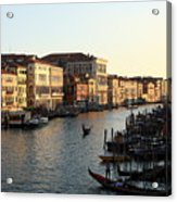 View Of The Grand Canal In Venice From The Rialto Bridge Acrylic Print
