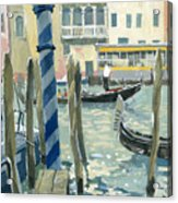 View Of The Grand Canal In Venice Acrylic Print