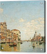 View Of The Grand Canal Of Venice Acrylic Print