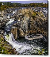 View Of The Great Falls Acrylic Print