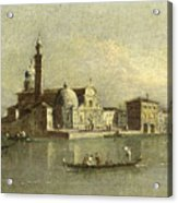 View Of The Isola Di San Michele In Venice Acrylic Print